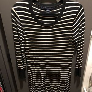 French connection striped knitted dress